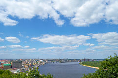The old Kiev city - the capital of Ukraine and the Dnieper Stock Images