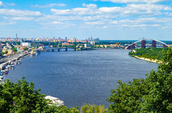 The old Kiev city - the capital of Ukraine and the Dnieper Stock Image