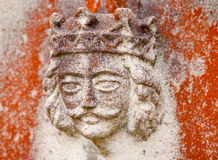 Old King Sculpture on a Gravestone Stock Photography