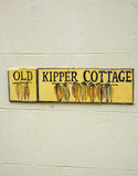 Old Kipper Cottage sign Royalty Free Stock Image