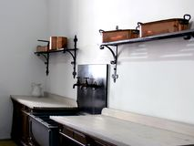Old kitchen. A interior of the old kitchen in castle Royalty Free Stock Photography