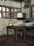 Old kitchen Stock Images