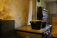 Old Kitchen. The Picture shows an old Kitchen witch was used in the last century Royalty Free Stock Image