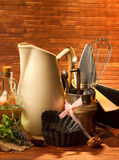 Old kitchen cooking utensil Royalty Free Stock Photo