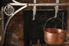 Old kitchen of Hotel Dieu Stock Photography