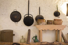 Old kitchen. Some old utensils in an old and rural kitchen royalty free stock image