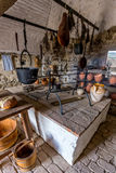 Old kitchen from the Szigliget castle in Hungary.  Royalty Free Stock Images