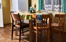 Old kitchen table Royalty Free Stock Image