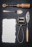Old Kitchen tools Stock Images