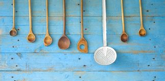 Old kitchen utensils cooking concept Royalty Free Stock Image