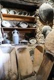 Old kitchen utensils of the Great Meteoron Monastery. Old kitchen utensils of monks of the Great Meteoron Monastery, Greece. March 2017. Horizontal royalty free stock photos