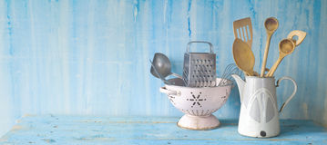 Old kitchen utensils Royalty Free Stock Photos