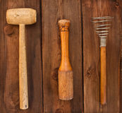 Old kitchen utensils Stock Image