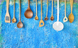 Old kitchen utensils Royalty Free Stock Image