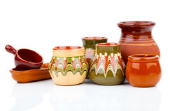 Old kitchenware (clay pots) Stock Photo