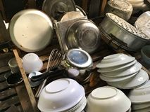 Old Kitchenware. Close up old Kitchenware in Thailand royalty free stock photo