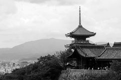 The old Kiyomizu temple in Kyoto Stock Photo