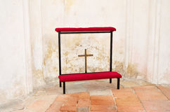 The old kneeler. In church on Green mountain (Zelena hora) in Czech Republic. Photography is allowed in this church Royalty Free Stock Photos