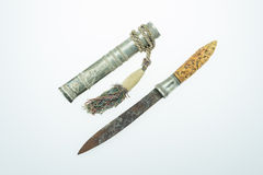Old knife ivory handle Royalty Free Stock Images