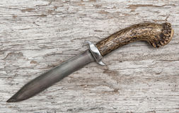Old knife on the weathered wood Royalty Free Stock Photography