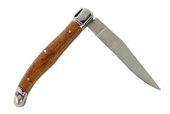 Old knife with wooden handle Royalty Free Stock Photography