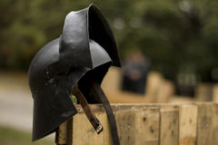 Old knight helmet Royalty Free Stock Images