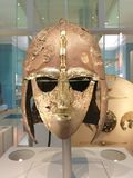 Old knight helmet. In National Museum of Scotland Stock Image