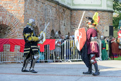 Old knights event. Stock Photography