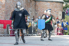 Old knights event. Stock Photo
