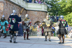 Old knights event. Royalty Free Stock Image