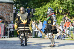 Old knights event. Stock Images