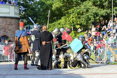 Old knights event. Stock Photos