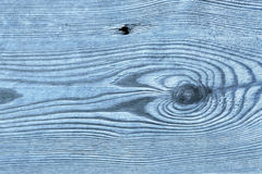 Old Knotted Blue Pine Wood Board Grunge Texture Detail Royalty Free Stock Photo