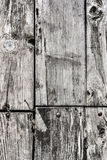 Old Rotten Cracked Pinewood Floorboards With Round Head Machine Screws Embedded Royalty Free Stock Photo
