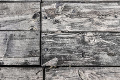 Old Rotten Cracked Pinewood Floorboards With Round Head Machine Screws Embedded - Detail Stock Photos