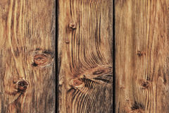 Old Knotted Weathered Pine Planks Fence - Detail. Photograph of antique, weathered, knotted, rustic Pine wood fence - detail Royalty Free Stock Photos