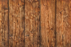 Old Knotted Weathered Pine Planks Fence - Detail. Photograph of antique, weathered, knotted, rustic Pine wood fence - detail Stock Photography