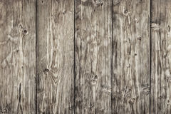 Old Knotted Weathered Pine Planks Fence - Detail. Photograph of antique, weathered, knotted, rustic Pine wood fence - detail Stock Photos