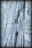 Old Knotted Wood Blue Vignetted Grunge Background Texture Royalty Free Stock Images