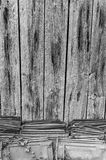 Old knotty wooden wall royalty free stock photo