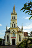 0030-Old kościół w Vinh mieście Środkowy Wietnam, Azja Południowo-Wschodnia - - Nghe prowincja - Obraz Royalty Free