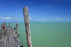 Old koh phangan ferry pier koh samui Stock Images