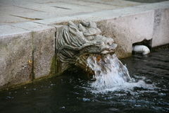 The old Korean fountain in the temple to Seoul Stock Photography