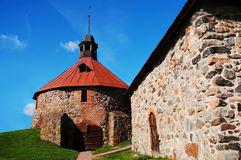 Old Korela fortress. In the town of Priozersk, Russia royalty free stock photos