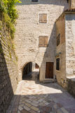 Old Kotor. Houses, streets and alleys. Montenegro Stock Photo
