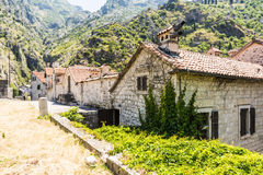 Old Kotor. Houses, streets and alleys. Montenegro Royalty Free Stock Images