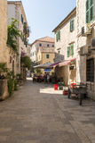 Old Kotor. Houses, streets and alleys. Montenegro Royalty Free Stock Photos