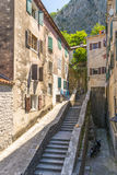 Old Kotor. Houses, streets and alleys. Montenegro Royalty Free Stock Image