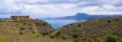 Old Koulos fortess, Crete, Greece Stock Photos
