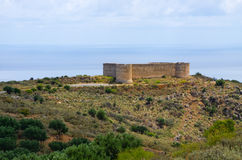 Old Koulos fortess, Crete, Greece Stock Photography
